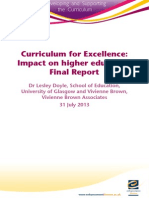 Curriculum for Excellence Impact on Higher Education Final Report