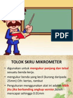 TOLOK SKRU MIKROMETER