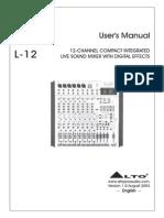 Alto L12 Manual