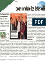 L'Avenir - Deux Femmes Pour Conduire Les Listes CdH - 15.01.2014