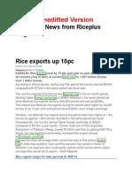 13th January 2013 Global Rice Newsw