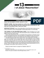 The Power of Jesus' Resurrection 20- 26 Mar