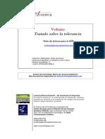 Voltaire Tratado Sobre La Tolerancia