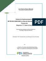Estudo da Implementação da ISO 22000 numa sala de desmancha de carnes frescas