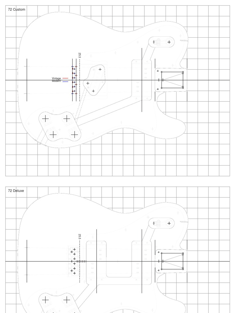 72 Custom - Deluxe telecaster plan | Guitars | Music Technology