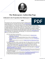 Shakespeare Authorship