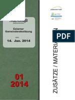 Gemeinderatssitzung v. 14.01.2014 - Zusätze/ Materialien