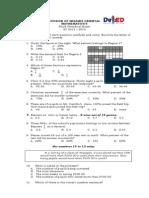 Math 5-3rd Grading