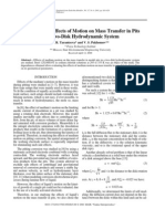A Study of the Effects of Motion on Mass Transfer in Pits