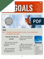 goals sheet student