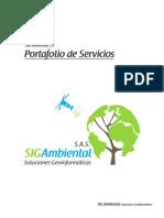 Portafolio de servicios SIG Ambiental SAS