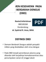 Managemen Kesehatan pada DBD