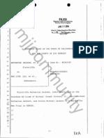 Jackson vs AEG New Trial Ruling