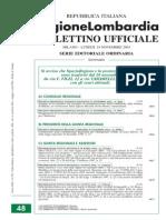 Delibera Giunta Regionale Lombardia14964-2003