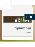 Programming in Java - 05 - Console Io