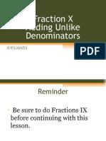 fraction x