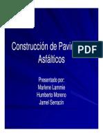 Construcción de Pavimentos Asfálticos Presentación
