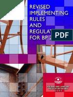 Revised IRR BP220 2008