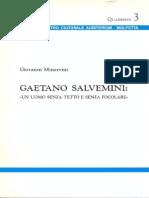 Giovanni Minervini - GAETANO SALVEMINI - Un Uomo Senza Tetto e Senza Focolare