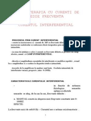 tehnica de aplicare a curentilor interferentiali)