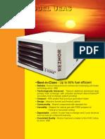Reznor High Efficiency UEAS Gas Fired Unit HeaterBrochure Best
