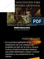 Capacitación para Minería artesanal (Módulo Técnico Ambiental) - PERFORACIÓN