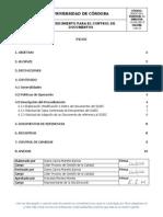 PGDC-001 Procedimiento Para El Control de Documentos 4 0
