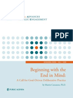 CAPE Document - Beginning With the End in Mind - A Call for Goal-Driven Deliberative Practice