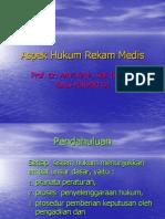 Aspek Hukum Rekam Medis, 2008