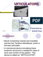 Articulators in prosthodontics