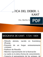 Etica Del Deber. Kant. Clases