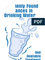 Commonly Found Substances in Drinking Water
