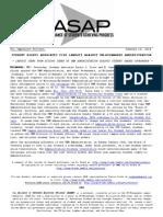 ASAP Press Release 01-14-14