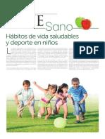 Habitos vida saludables niños