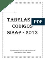 Tabela Sisap 2013 Para Blog Do Setor de Pagamento