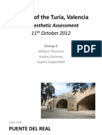 Aesthetic Assessment of the bridges of the Turia riverbed, Valencia, Spain.