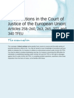 Direct actions in the Court of Justice of the European Union