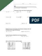 Algebra II 5-3 Practice Worksheet