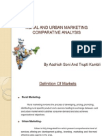Rural and Urbanmarketing Comparetive Analysis