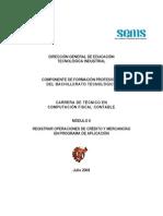 Módulo II Registrar operaciones de credito