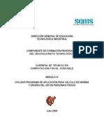 Módulo IV Utilizar programa de aplicacion para calculo de nomina