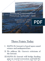 Presentation to CPRA about Southeast Louisiana Flood Protection Authority-East lawsuit against oil and gas companies