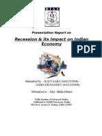 Impact of Recession in India
