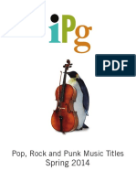 IPG Spring 2014 Pop, Rock, And Punk Music Titles