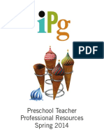 IPG Spring 2014 Preschool Teacher Professional Resources