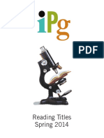 IPG Spring 2014 Reading Titles