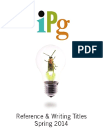 IPG Spring 2014 Reference and Writing Titles