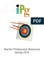 IPG Spring 2014 Teacher Professional Resources
