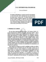 1. Balmes y El Criterio Para Filosofar, Eudaldo Forment