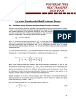 2.2 Basic Equations for Heat Exchanger Design